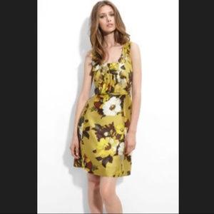 "Kate Spade ""Bette"" Yellow Floral Dress w/ Bow"